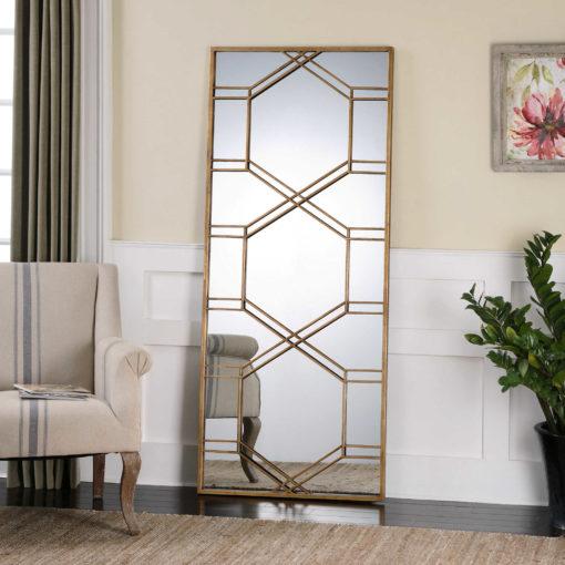 Kennis Gold Mirror by Uttermost 178cm x 74cm