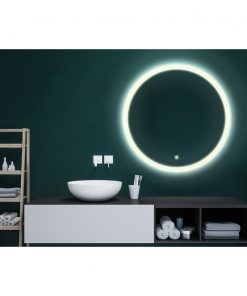 Maloo Round LED Bathroom Mirror with Demister 600mm or 800mm