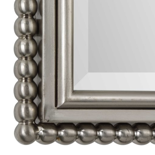 Sherise Silver Beaded Arched Mirror by Uttermost