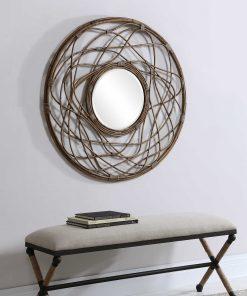 Samudra Round Mirror