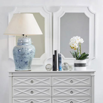 Chalet Wall Mirror White 54cm x 84cm