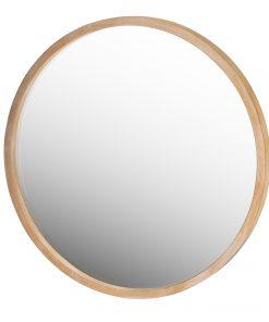 Manila Light Wood Round Mirror