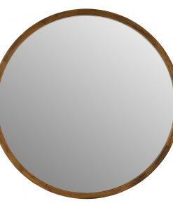 Cebu Dark Wood Round Mirror
