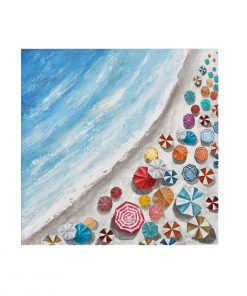 Beach Summer Framed Canvas