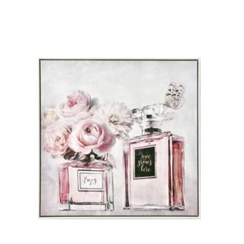Pair Perfume with Butterfly and Flowers