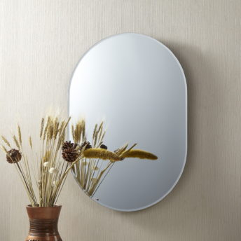 Hardy Frameless Oval Mirror