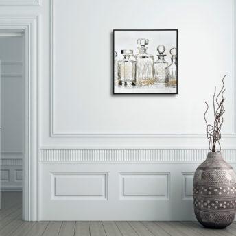 Carafe Bottle Canvas Wall Art 80cm x 80cm
