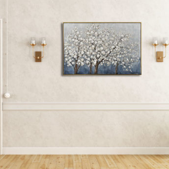 Winter Blossoms Framed Wall Art 120cm x 80cm