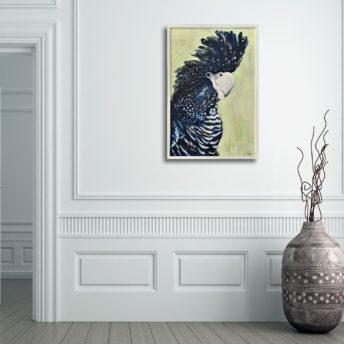 Framed Black Cockatoo Canvas Wall Art 60cm x 90cm