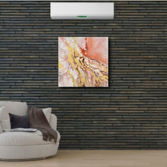 Abstract Dunkin Splash Canvas Wall Art 100cm