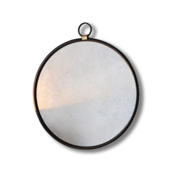 Bisque-Black-Round-Wall-Mirror