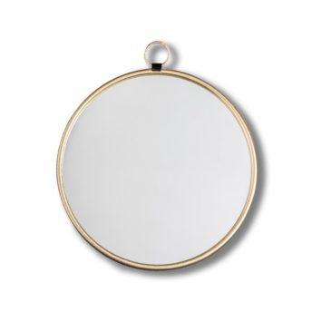 Bisque-Gold-Round-Wall-Mirror