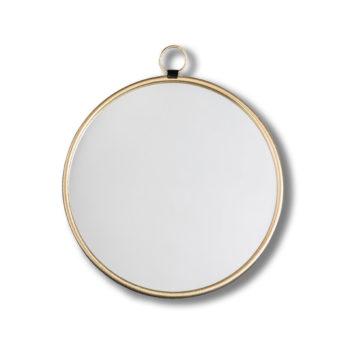 Bisque-Gold-Round-Wall-Mirror