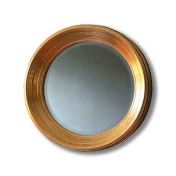 Chenille-Gold-Round-Wall-Mirror