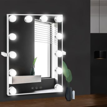 Wall mounted hollywood makeup mirror