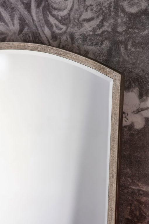 Paris Arch Leaner Mirror Antique Silver Detail
