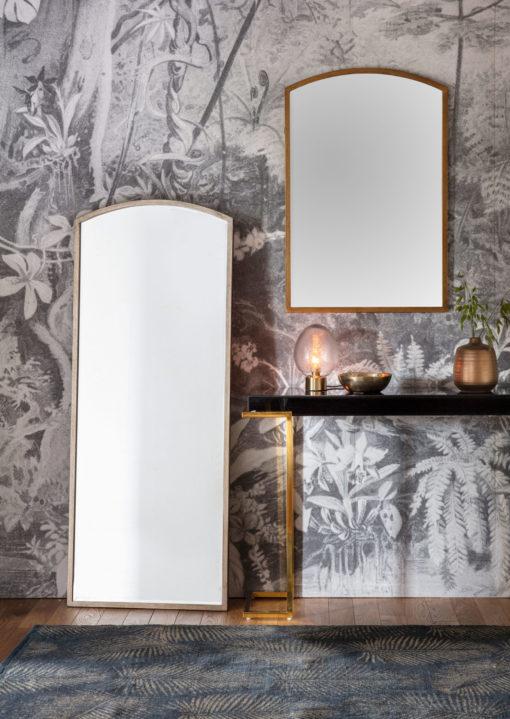 Paris Arch Leaner Mirror Antique Silver Lifestyle