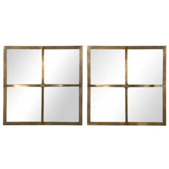 Window Pane Square Mirrors
