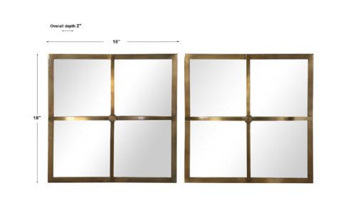 Window Pane Square Mirrors