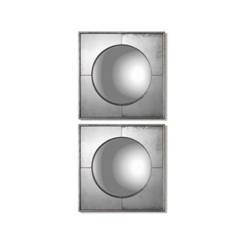 Savio Square Mirrors, S/2 by Uttermost 41cm x 41cm