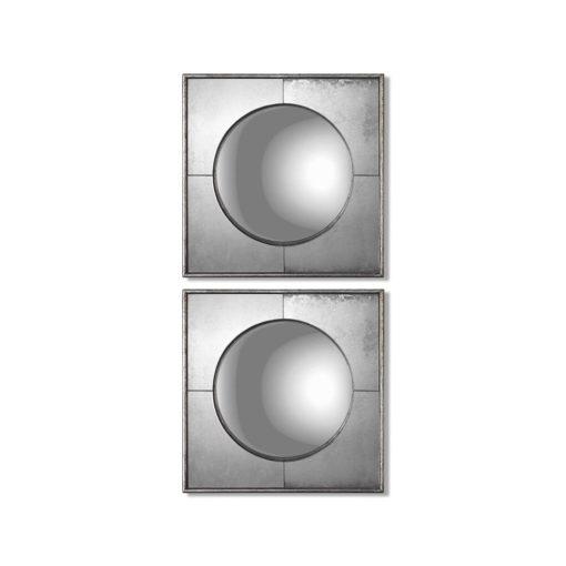 Savio Square Mirrors, S/2 by Uttermost 41cm x 41cm