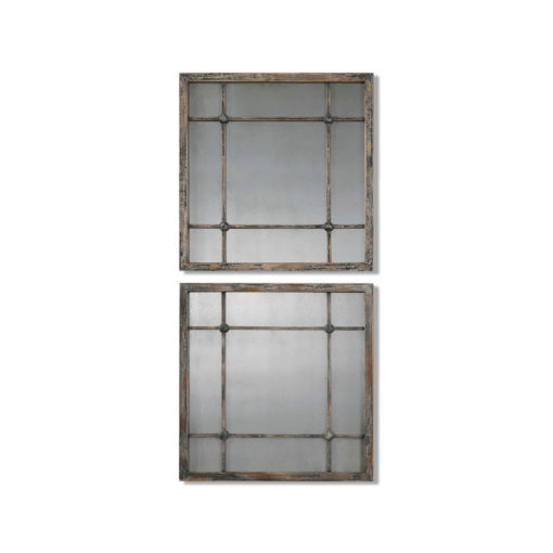 Saragano Square Mirrors, S/2 by Uttermost 48cm x 48cm