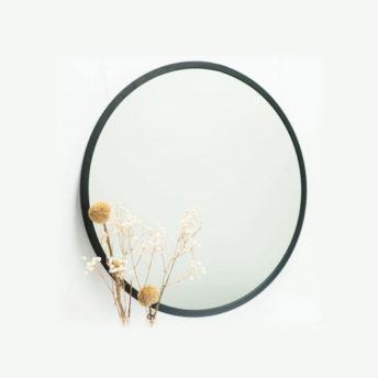 Madrid-Black-Metal-Round-Bathroom-Mirror---600mm-or-800mm