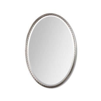Casalina Nickel Oval Mirror by Uttermost 56cm x 81cm