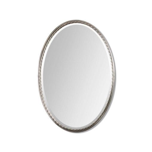 Casalina Nickel Oval Mirror by Uttermost 56cm x 81cm