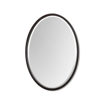 Casalina Oil Rubbed Bronze Oval Mirror by Uttermost 56cm x 81cm