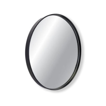 Barcelona Black Metal Round Bathroom Mirror - 600mm or 750mm