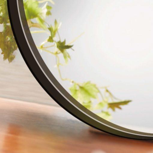 Barcelona Black Metal Round Bathroom Mirror - 600mm or 750mm