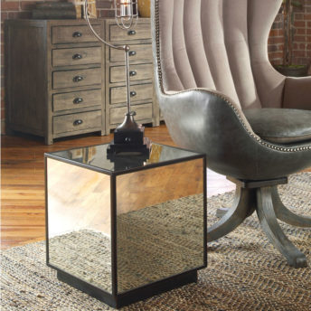 Matty Mirrored Cube Table by Uttermost