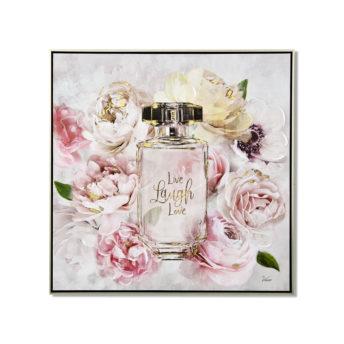 Live Laugh Love Perfume Wall Art Canvas 80 cm X 80 cm