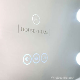 Glam Frameless Hollywood Mirror with Bluetooth - 60 CM x 80 CM