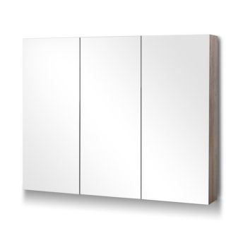 3 Doors Mirrored Wooden Cabinet 90 CM x 72 CM
