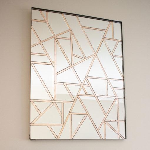 """Empire"" Handmade Mosaic Rectangle Mirror – Wall Art by Mirror Envy 60 x 80 cm"