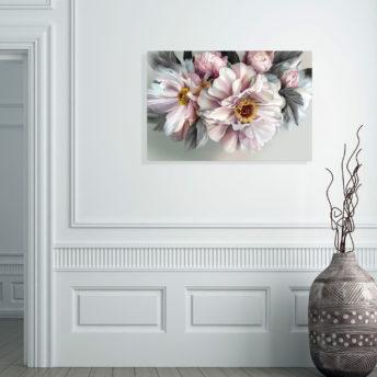 Flower Power Wall Art Canvas 80 cm X 120 cm