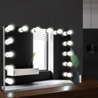 Hailey MakeUp Mirror - White - 65 CM x 80 CM