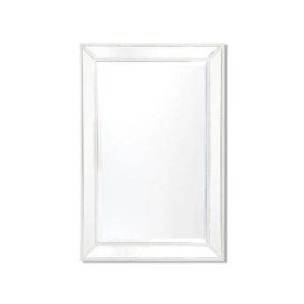 Zanthia Medium Wall Mirror White 61cm x 92cm