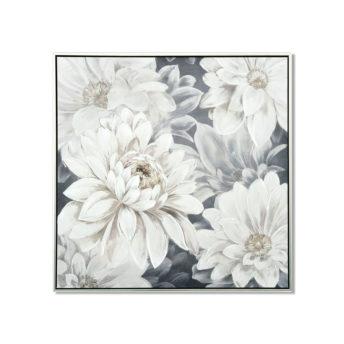 White Flowers Wall Art Canvas 80 cm X 80 cm