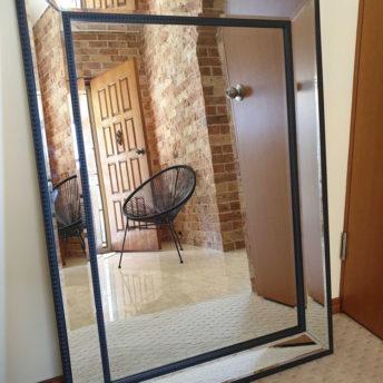 Black Beaded Wall Mirror 110cm x 80cm