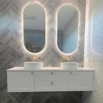 Slimline Oblong Backlit LED Mirror