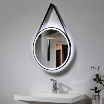 Black frame strap LED Mirror