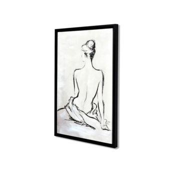 Seductive Women Back Wall Art Canvas 55 cm X 85 cm