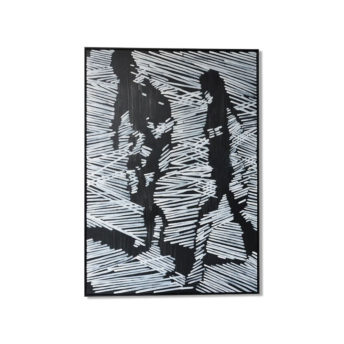 Backscattering Silhouette Wall Art Canvas 98 cm X 138 cm