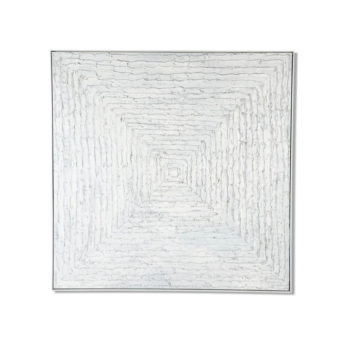 White Maelstrom Wall Art Canvas 138 cm X 138 cm