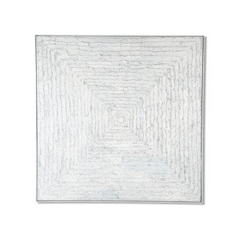 White Maelstrom Wall Art Canvas 138 cm X 138 cm
