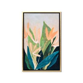 Strelitzia Reginae Abstract Wall Art Canvas 55 cm X 85 cm