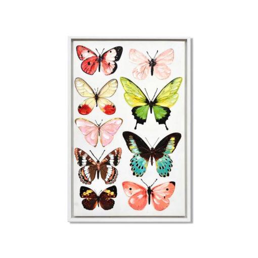 Ennea Butterflies Wall Art Canvas 55 cm X 85 cm